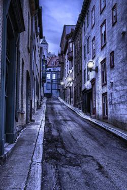 Old Quebec Street at Night, Hdr by michelaubryphoto