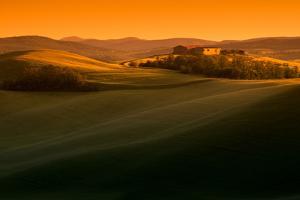 Warm Tuscany Countryside Sunset by Michele Berti