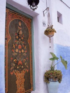 Door in Oudayas Casbah, Rabat, Morocco by Michele Burgess