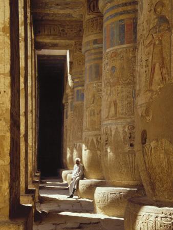 Egypt, West Bank, Luxor, Medinat Habu by Michele Burgess