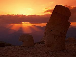 Sunset, Temple of King Antichus, Turkey by Michele Burgess