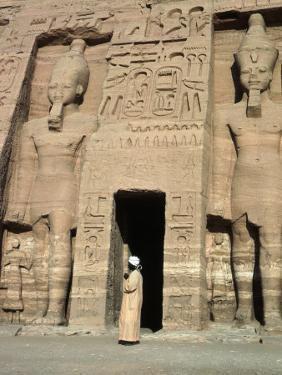 Temple of Nefertari, Abu Simbel, Egypt by Michele Burgess