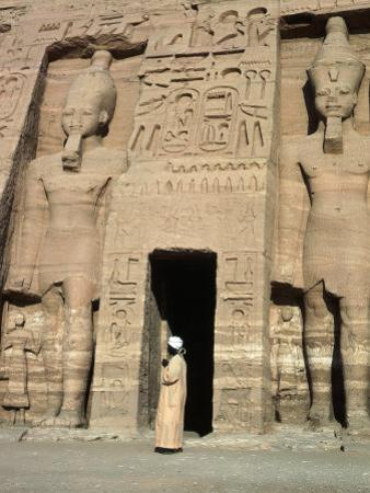Temple of Nefertari, Abu Simbel, Egypt by Michele Burgess
