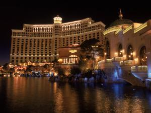 The Bellagio at Night, Las Vegas, NV by Michele Burgess