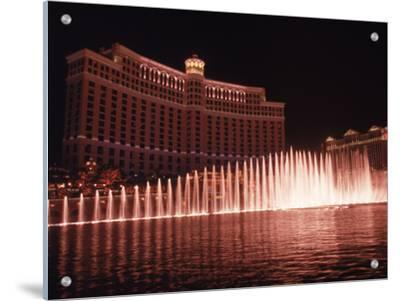 The Bellagio with Fountains at Night, Las Vegas, NV by Michele Burgess