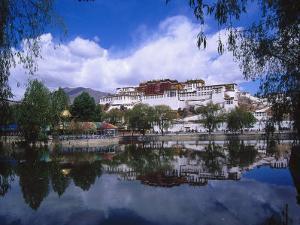 Tibet, Lhasa, Potala Palace by Michele Burgess