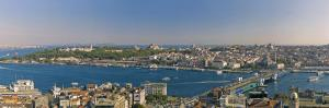 Bosphorus and Golden Horn Panorama from Galata Tower, Istanbul, Turkey by Michele Falzone