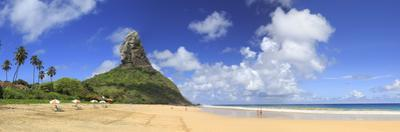 Brazil, Fernando De Noronha, Conceicao Beach with Morro Pico Mountain in the Background by Michele Falzone