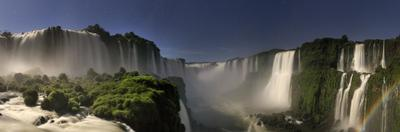 Brazil, Parana, Iguassu Falls National Park (Cataratas Do Iguacu) Illuminated Only by Monlight by Michele Falzone