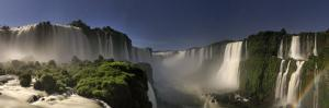 Brazil, Parana, Iguassu Falls National Park (Cataratas Do Iguacu) Illuminated Only by Monlight by Michele Falzone