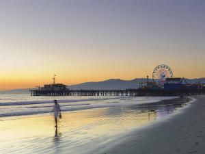 California, Los Angeles, Santa Monica Beach, Pier and Ferris Wheel, USA by Michele Falzone