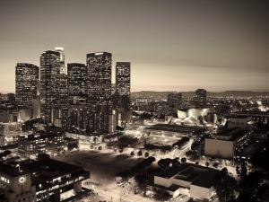 California, Los Angeles, Skyline of Downtown Los Angeles, USA by Michele Falzone