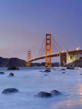 California, San Francisco, Baker's Beach and Golden Gate Bridge, USA by Michele Falzone