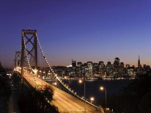California, San Francisco, Oakland Bay Bridge and City Skyline, USA by Michele Falzone