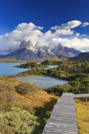 Chile, Patagonia, Torres Del Paine National Park, Cuernos Del Paine Peaks and Lake Pehoe by Michele Falzone