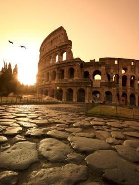 Colosseum and Via Sacra, Sunrise, Rome, Italy by Michele Falzone