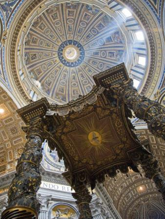 Detail of Bernini's Baroque Baldachin, St Peter's Basilica, Rome, Italy by Michele Falzone