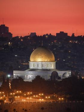 Dome of the Rock Mosque, Dusk, Jerusalem, Israel by Michele Falzone