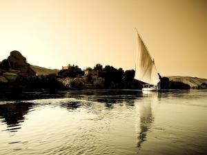 Egypt, Aswan, Felucca and Nile River by Michele Falzone