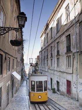 Elevador Da Bica, Bairro Alto District, Lisbon, Portugal by Michele Falzone