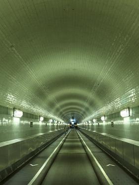 Germany, Hamburg, Landungsbrucken, St. Pauli Elbtunnel (Historic Pedestrian Tunnel under Elbe River by Michele Falzone