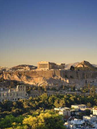 Greece, Attica, Athens, the Acropolis and Parthenon