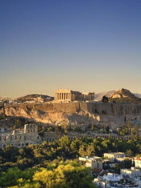Greece, Attica, Athens, the Acropolis and Parthenon by Michele Falzone
