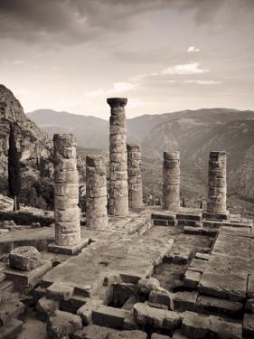 Greece, Delphi (Unesco World Heritage Site), Temple of Apollo by Michele Falzone