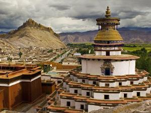 Gyantse Monastery, Along the Friendship Highway, Tibet by Michele Falzone