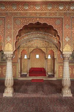 India, Rajasthan, Bikaner, Junagahr Fort, Anup Mahal Hall by Michele Falzone