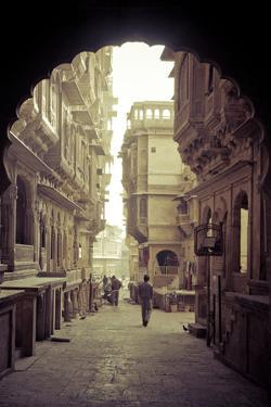 India, Rajasthan, Jaisalmer, Old Town, Patwa Ki Haveli (Traditional Ornately Decorated Residence) by Michele Falzone