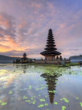 Indonesia, Bali, Bedugul, Pura Ulun Danau Bratan Temple on Lake Bratan by Michele Falzone