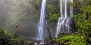 Indonesia, Bali, Central Mountains, Sekumpul Waterfall by Michele Falzone