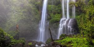 Indonesia, Bali, Central Mountains, Sekumpul Waterfall by Michele Falzone