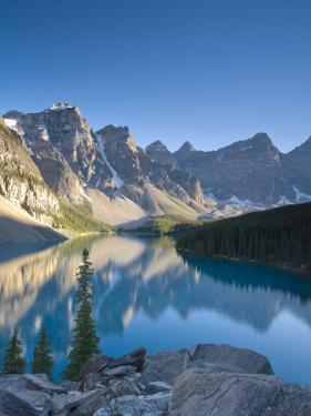 Moraine Lake and Valley of Peaks at Sunrise, Banff National Park, Alberta, Canada by Michele Falzone