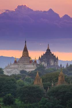 Myanmar (Burma), Temples of Bagan (Unesco World Heritage Site), Ananda Temple and Thatbynnyu Pagoda by Michele Falzone