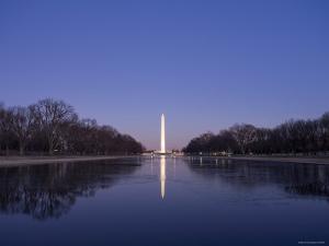 National Mall and Washington Monument at Dusk, Washington DC, USA by Michele Falzone