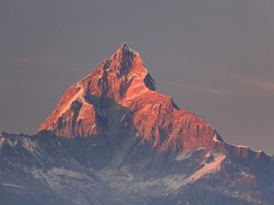 Nepal, Pokhara, Sarangkot, View of Annapurna Himalaya Mountain Range by Michele Falzone