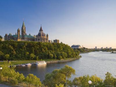 Parliament Hill and Ottawa River, Ottawa, Ontario, Canada by Michele Falzone