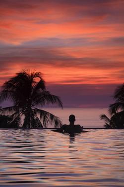 Philippines, Visayas, Boracay Island, Resort Overlooking White Beach (Mr) by Michele Falzone