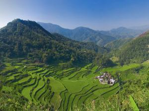 Rice Terraces of Bangaan at Banaue, Luzon Island, Philippines by Michele Falzone