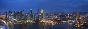 Singapore, Singapore Aerial View of Singapore Skyline by Michele Falzone