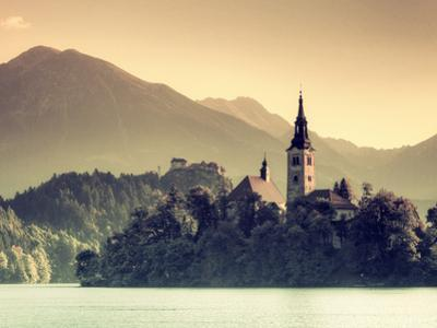 Slovenia, Bled, Lake Bled and Julian Alps by Michele Falzone