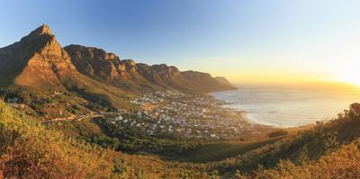 South Africa, Western Cape, Cape Town, Table Montain, Twelve Apostles and Camp's Bay from Lion's He by Michele Falzone