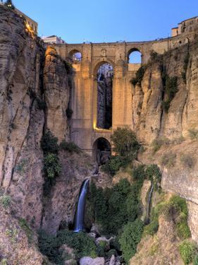 Spain, Andalucia, Ronda, Ronda Village and Ponte Nuovo Bridge by Michele Falzone