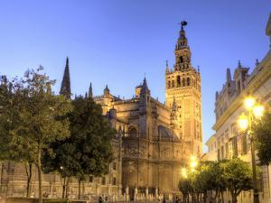 Spain, Andalucia, Sevilla, Cathedral and Giralda Tower by Michele Falzone