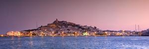 Spain, Balearic Islands, Ibiza, View of Ibiza Old Town (UNESCO Site), and Dalt Vila by Michele Falzone