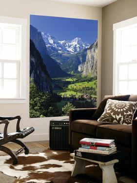 Switzerland, Bernese Oberland, Lauterbrunnen Town and Valley by Michele Falzone
