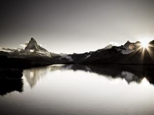 Switzerland, Valais, Zermatt, Lake Stelli and Matterhorn (Cervin) Peak by Michele Falzone