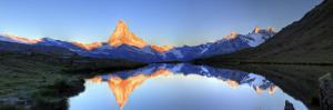 Switzerland, Valais, Zermatt, Lake Stelli and Matterhorn (Cervin) Peak by Michele Falzone